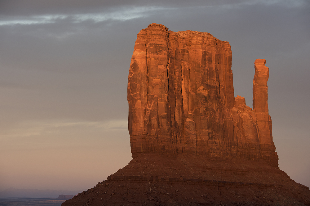 West Mitten at Sunset, Monument Valley, Arizona