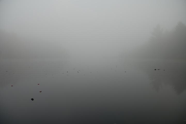 Fog at Sunrise, Deer Pond, New Hampshire