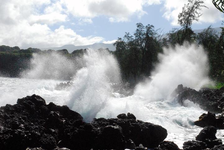 Exploding Surf, Keanae, Peninsula, Maui
