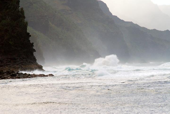 Exploding Wave off Ke'e Beach, Kaua'i