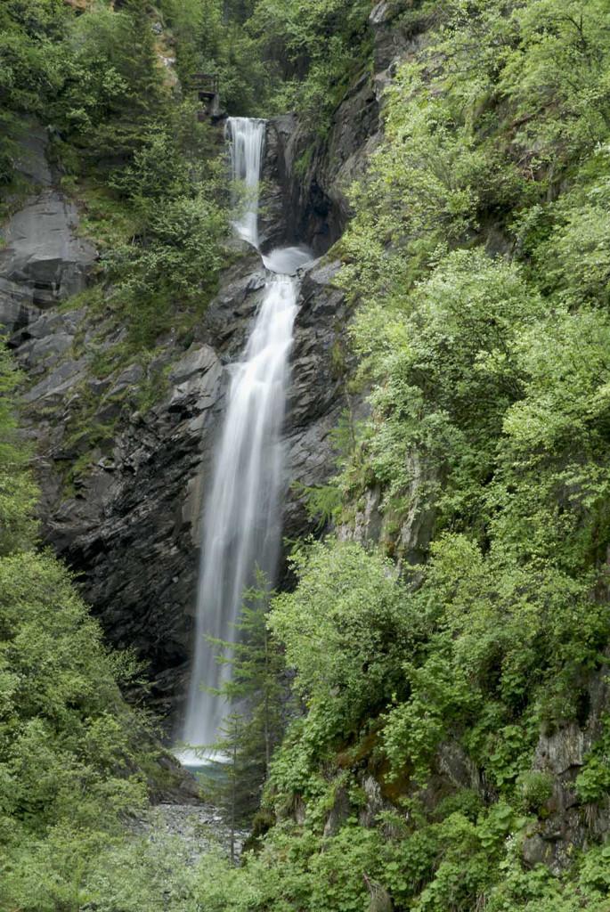 Waterfall, near Bourg-St-Pierre, Switzerland