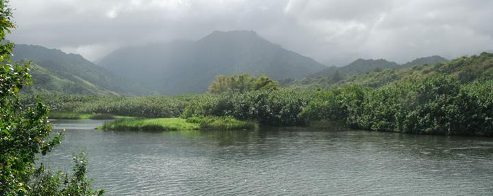 Wainiha River panorama, Kaua'i