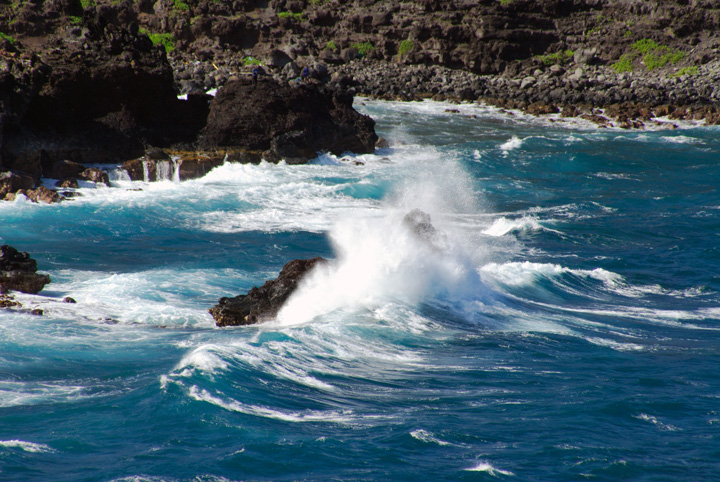 Wave Crashing Over Rock, Maui