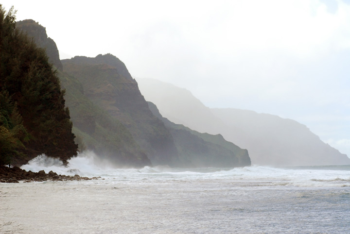 Waves on the Na Pali Coast, Kaua'i
