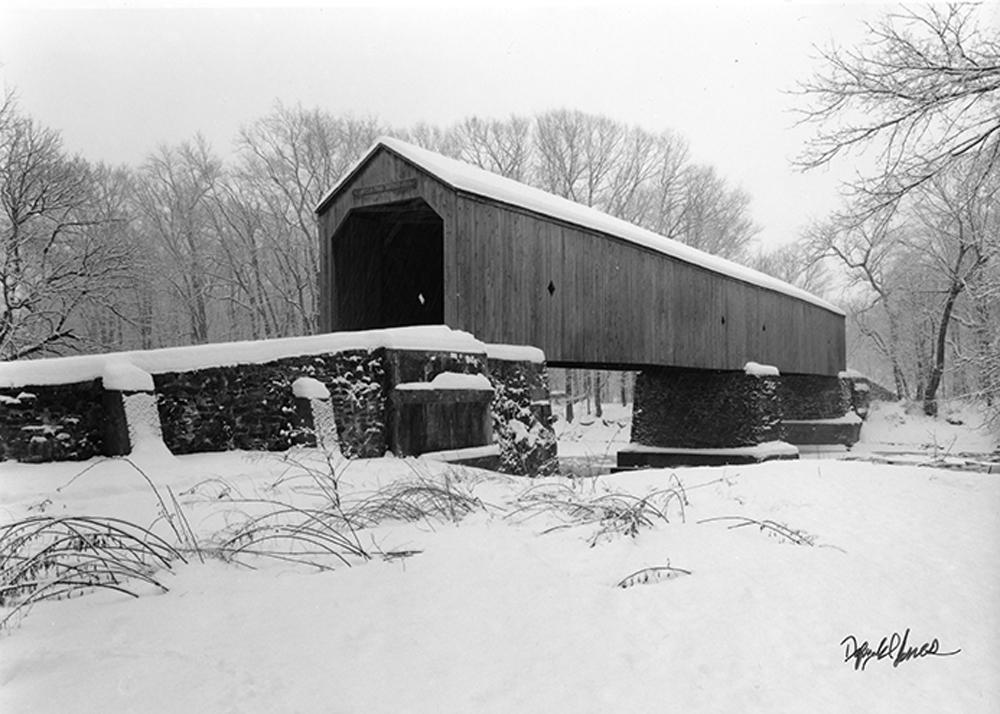 Schofield Ford Bridge in Snow